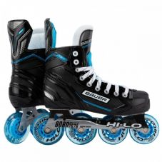 BAUER RSX INLINE HOCKEY SKATES - BLACK/BLUE